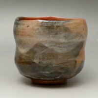 Vintage Japanese Raku Pottery Tea Bowl