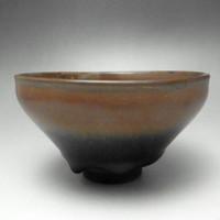 TENMOKU CHAWAN Modern Chinese Signed Jian Yao Pottery Tea Bowl #1836