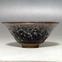 Vintage Chinese Jian Pottery Bowl