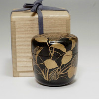Vintage Natsume - Japanese Lacquered Tea Caddy