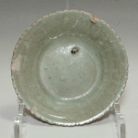 Small Antique Chinese Longquan Celadon Plate