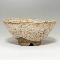 Hagi Chawan Antique Japanese Pottery Tea Bowl