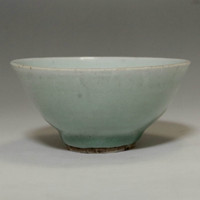 Antique Jade Green Chinese Celadon Porcelain Cup in Qing #2067
