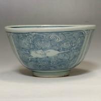 sale: Vintage Chinese Blue and White Celadon Porcelain Bowl