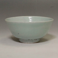 sale: Antique Jade Green Chinese Celadon Porcelain Bowl in Qing