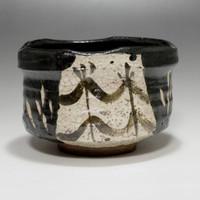 sale: KURO ORIBE CHAWAN - Modern Black Japanese Pottery Tea Bowl - MINO Ware