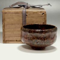 sale: RAKU CHARAN Antique Japanese Shiny glazed Pottery Tea Bowl by Kato Sekishun