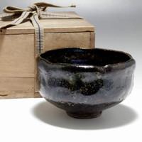 sale: RAKU CHARAN Antique Japanese Pottery Tea Bowl by Kato Sekishun