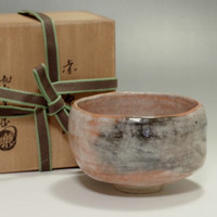 sale: AKA RAKU CHAWAN Vintage Japanese Pottety Tea Bowl w/Box The Twelveth Raku