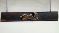 sale: Antique copper kozuka - Japanese knife handle of katana - Bodhidharma #2183