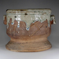 sale: Mizusashi - Pottery Jug in Iga ware for Japaese tea ceremony