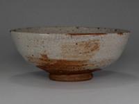 sale: Small Antique Shino glazed bowl by Kato Shuntai