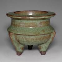 sale: Antique Chinese Longquan incense burner #2325