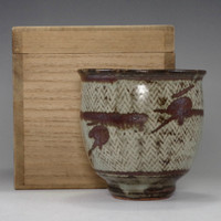 sale: YUNOMI - Pottery Tea Cup in Masiko Ware by SIMAOKA TATSUZO