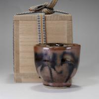 sale: GUINOMI - Pottery Sake Cup in Masiko Ware by Hamada Shoji