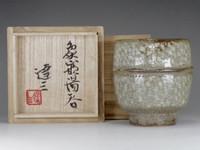 sale] Jomon inlay cup in mashiko pottery by Shimaoka Tatsuzo w shigned box #2373