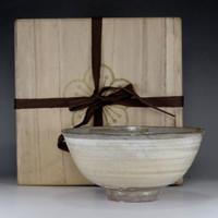 HAKEME CHAWAN Korean Pottery Bowl by Ri Masako / Yi Bangja w Box #2384