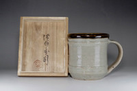 sale: Mag Cup in mashiko pottery by Hamada Shoji w Box