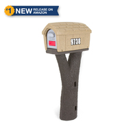 Designed by the original creators of the durable all-in-one plastic mailbox and post, the NEW Simplay3 Rustic Home Mailbox includes a sand stone color mailbox top and and tree branch bark textured post that attaches to 4 x 4 post (sold separately) - Built to last and made in the USA.