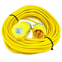 16A 1.5mm 14M 110v (Yellow) Extension Lead