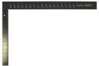 Tala 400x600mm(16x24in) Black Aluminium Carpenters Square
