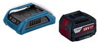 Bosch Battery Starter Set Wireless Charger with Docking Frame + 1 x 4.0Ah Batt