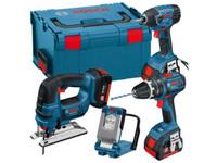 Bosch 0615990FS0 18v 4 Piece Cordless Li-ion Tool Kit 3 x 4.0ah