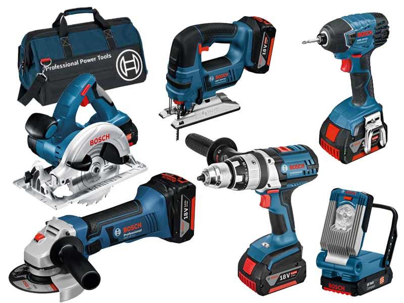 Bosch 0615990g8j 18v 6 Piece Cordless Tool Kit 3 X 4 0ah