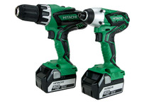 Hitachi KC18DGL/JE 18V Combi Drill Impact Driver Twin Kit with 2 x 5.0Ah