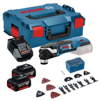 Bosch GOP 18 V-28 Cordless Multicutter (2x 5.0Ah), 16 Pc Accessory Kit