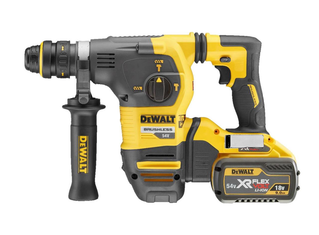 Dewalt Dch333x2 54v Sds Plus Cordless Hammer Drill 2 X 9ah