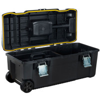 Stanley 710mm(28in) Toolbox with Wheels and Pull Handle