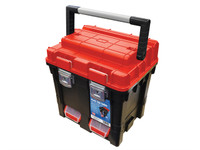 Faithful 17in Deep Plastic Cube Toolbox With 2 Trays