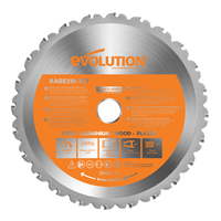 Evolution RAGE 210mm Multipurpose TCT Blade