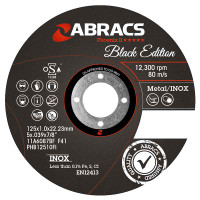 Abracs 115mm Black Edition Extra Thin Stainless Steel Cutting Discs