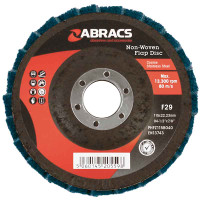 Abracs Maroon 115mm x 22mm Coarse Non-Woven Flap Disc