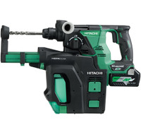 HiKoki DH36DPB Multi Volt (36V) Cordless Rotary Hammer with Dust Extractor System Body Only