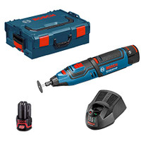 Bosch GRO 12 V-35 12V Rotary Tool With Mandrel & 5 x Cutting Wheels
