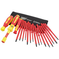 ERGO PLUS® Interchangable VDE Torque Screwdriver Set (19 PIECE)