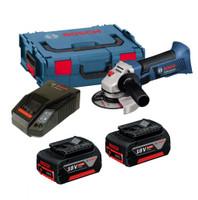Bosch GWS 18-125 V-LI 18V Angle Grinder 2 x 5Ah Batteries
