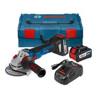 Bosch GWS 18 V-125 SC + GCY 30-4 Brushless 18V Angle Grinder 2 x 6.3Ah Batteries