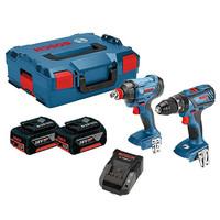 Bosch GSB 18 V-28 + GDX 18 V-180 18V Combi & Impact Kit 2 x 4Ah Batteries