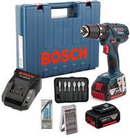 Bosch GSB 18-2-LI Plus Cordless Combi Drill with L-Boxx (2x3Ah)