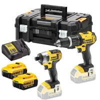 Dewalt DCZ285M2 Combi Drill & Impact Driver Kit With 2 x 4Ah Batteries
