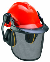 Einhell Forestry Helmet with Ear Defender and Face Mask