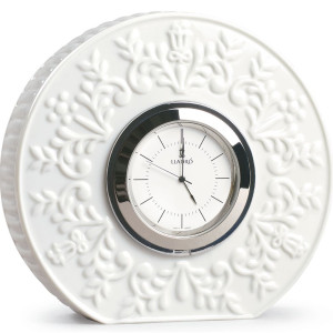 Lladro Porcelain Table Clock Logos 01009603