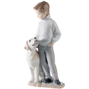 Lladro Porcelain My Loyal Friend Dog Figurine 01006902