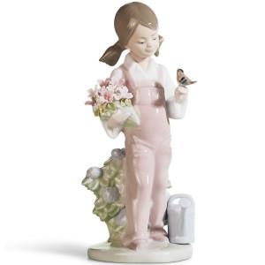 Lladro Porcelain Spring Girl Figurine 01005217