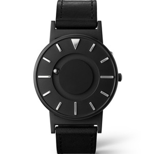 Eone Bradley X Dezeen Braille Black Dial Italian Leather Strap Watch BR-DZ