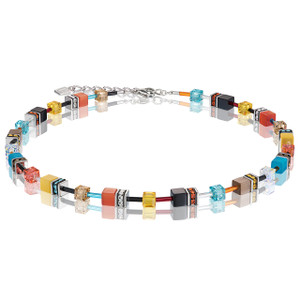 Coeur De Lion GeoCube Stainless-Steel Multicolour Daylight Fresh Necklace 2838-10-1563